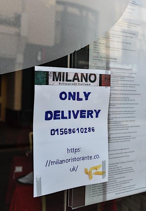 Italian Resturant, Leominster - March 2020