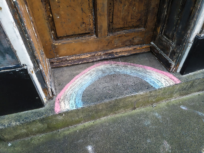 Rainbow, Leominster, April 2020