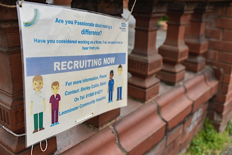 Recruitment, Leominster Community Hospital, March 2020
