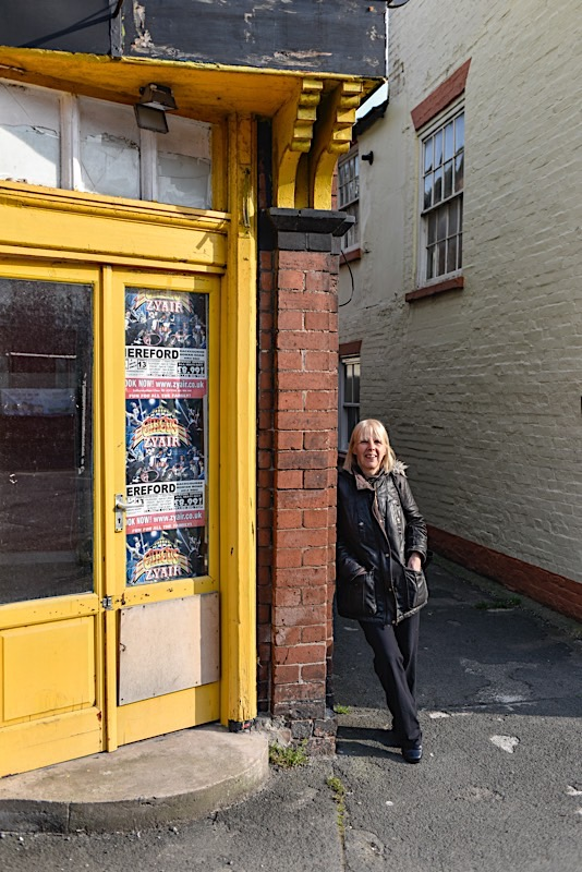 Sue on her way to drop off shopping to her Dad, Leominster - April 2020